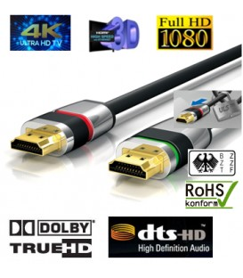 4K HDMI-Kabel , ULTRA-LOCK-SYSTEM™ 1,00m