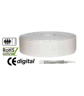 100m coaxial cable 125dB antenna cable 1,0 / 4,6 5x CCS